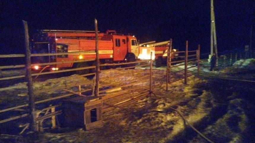 Один человек сгорел вреабилитационном центре под Красноярском