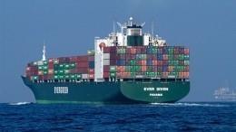 Гигантский контейнеровоз случайно заблокировал Суэцкий канал— видео