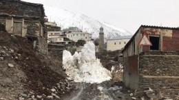 Четвертая посчету лавина сошла вдагестанском селе Цахур