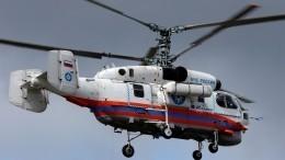 Видео сместа падения вертолета МЧС под Калининградом
