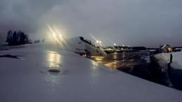 Минобороны показало ночной пуск управляемых ракет внебе над Карелией— видео