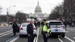 Таран насинем авто: полиция прокомментировала стрельбу уКапитолия вСША