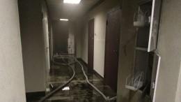 Видео изквартиры вКудрово, где произошел пожар из-за взрыва электросамокатов