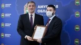 Проводивших операцию вовремя пожара вбольнице врачей наградили