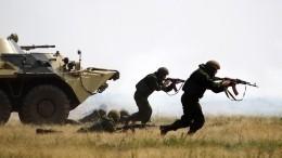 Мотострелки РФвАбхазии отработали действия вслучае вооруженного нападения