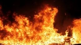 Видео сместа ЧПввоинской части вДагестане, где загорелся танк