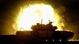 Названа предварительная причина возгорания танка ввоинской части вДагестане