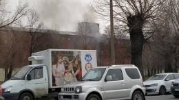 Один человек считается пропавшим без вести напожаре в«Невской мануфактуре»