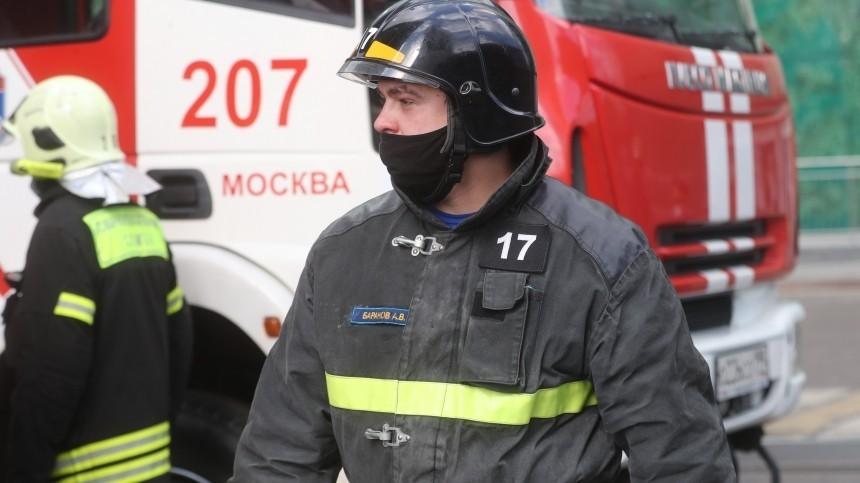 Пожар вспыхнул вполиклинике наКутузовском проспекте вМоскве