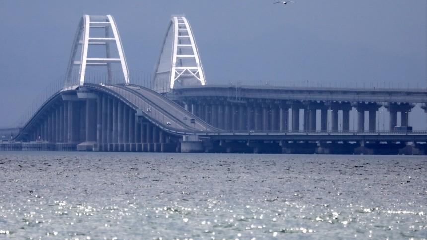 Корабли Каспийской флотилии прошли под Крымским мостом— видео