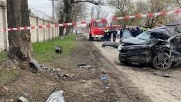 Жуткие кадры сместа гибели пяти подростков вДТП вРостовской области