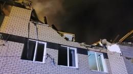 Дом под Нижним Новгородом, где при взрыве погиб ребенок, сняли скоптера