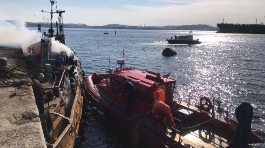 Маломерное судно «Прибой» вспыхнуло вакватории Кольского залива
