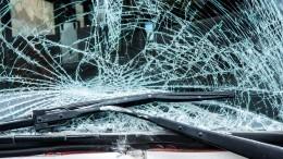 Лихач наогромной скорости насмерть сбил двух дорожных рабочих натрассе вУдмуртии— шок-видео