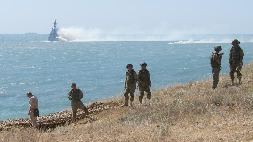 Видео масштабных учений российских военных вКрыму