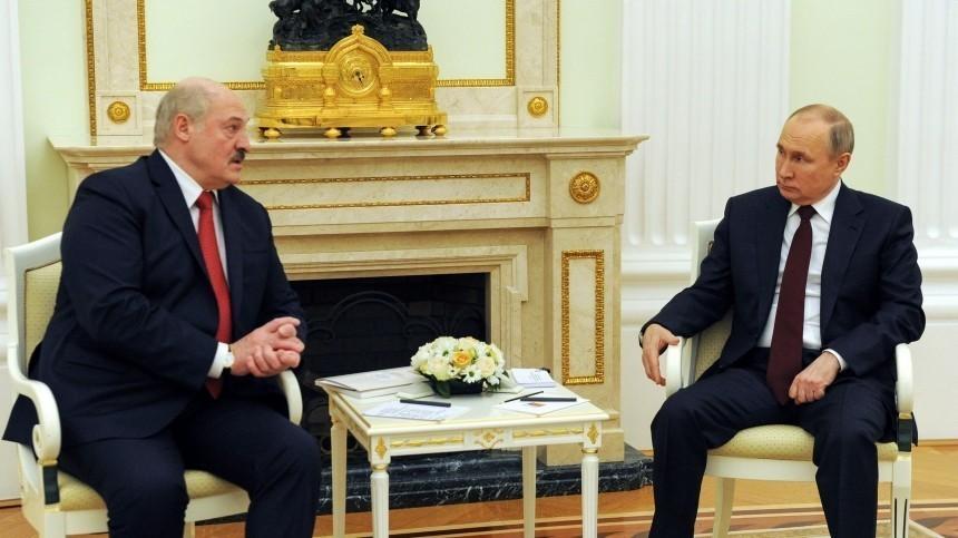 Переговоры Путина иЛукашенко завершились через четыре часа после начала