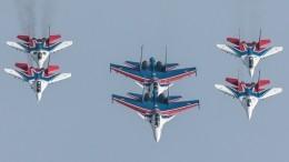 Высший пилотаж: самую зрелищную часть Парада Победы отрепетировали под Москвой— видео