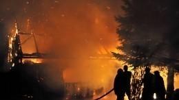 Фото сместа пожара вБашкирии, где заживо сгорела семья сдвумя детьми
