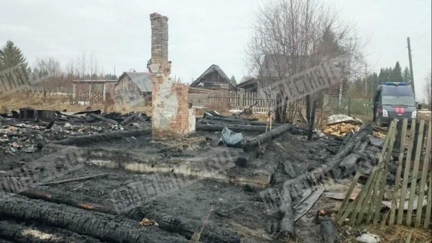 Четверо детей сгорели заживо под Пермью— видео сместа трагедии