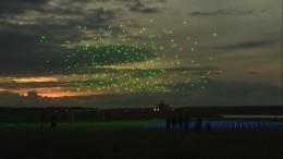 Видео: тысяча дронов устроили потрясающей красоты шоу под Петербургом