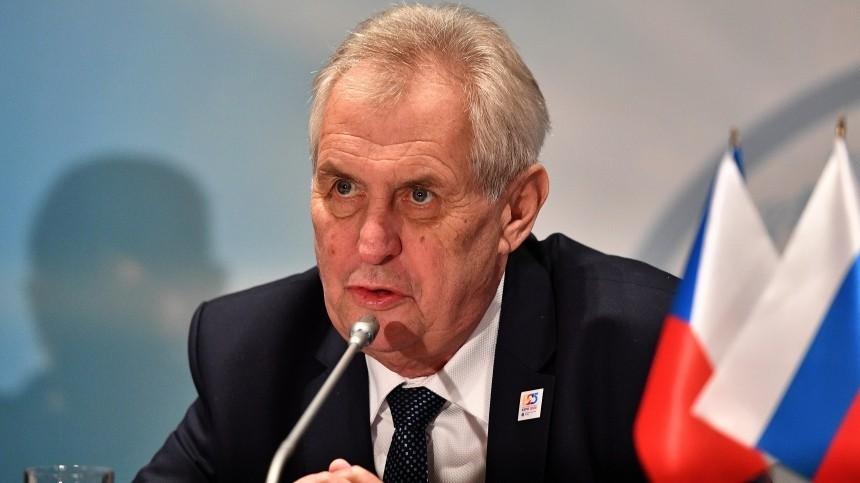 Президента Чехии обвинили враскрытии данных расследования овзрывах вВрбетице
