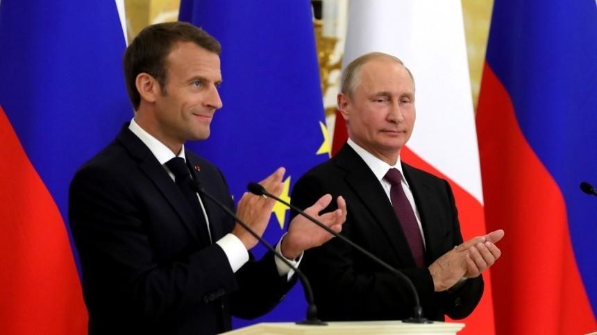 Путин иМакрон подтвердили взаимодействие врамках «нормандского формата»