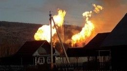 При пожаре нагазопроводе вБашкирии никто непострадал