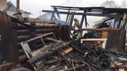 Первые фото сместа гибели восьми человек напожаре вПермском крае