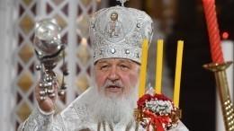 Патриарх Кирилл поздравил православных верующих сПасхой