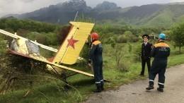 Легкомоторный самолет упал вСеверной Осетии— фото