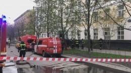 Первые кадры сместа пожара вмосковской гостинице, где погибли три человека