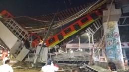 Видео: 15 человек погибли врезультате крушения метромоста встолице Мексики