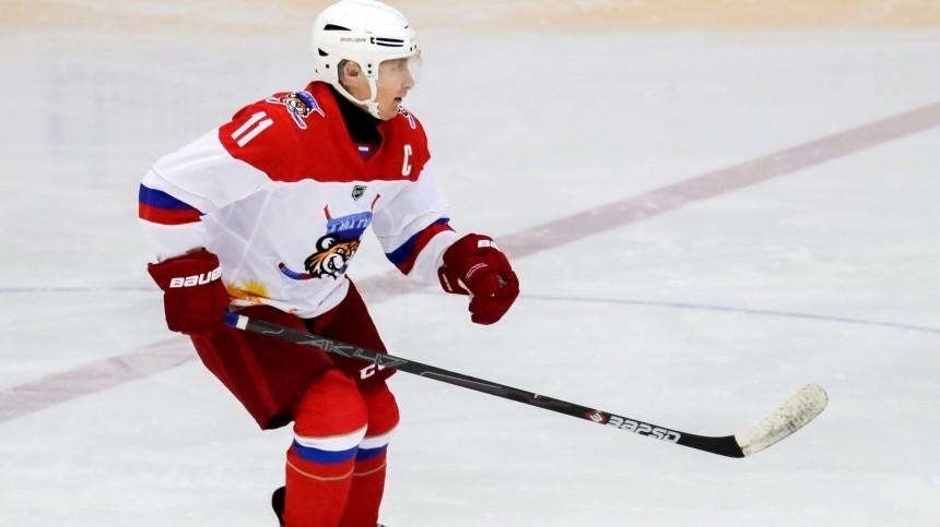 Путин записал видеообращение кучастникам Ночной хоккейной лиги