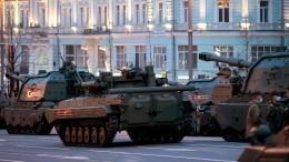 Видео: военная техника направилась кКрасной площади для репетиции Парада Победы
