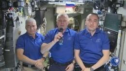 «Спраздником!»— экипаж МКС поздравил землян сДнем Победы
