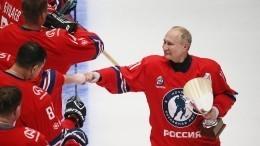 Восемь шайб! Как Путин принес победу команде вгала-матче Ночной хоккейной лиги