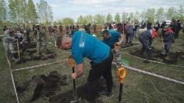 Отец исын победили вконкурсе копщиков могил вНовосибирске