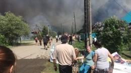 Видео: Мощный пожар на3,3 тысячи «квадратов» разгорается под Ульяновском