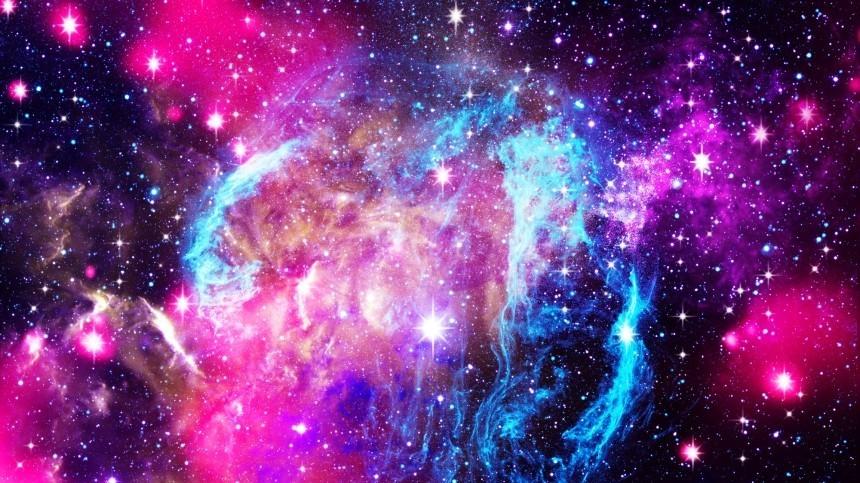 НАСА показало уникальный снимок слияния галактик
