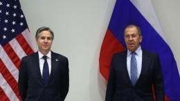 Дружеское похлопывание и«спасибо» по-русски: Как прошла встреча Лаврова иБлинкена?