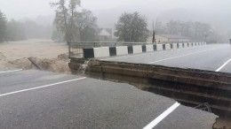 НаКубани дождями смыло мост