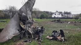 Видео крушения учебного Як-130 вжилом секторе вБелоруссии