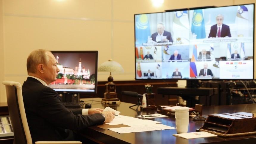 «Чего мыбоимся?»— Путин обсудил слидерами ЕАЭС возобновление поездок