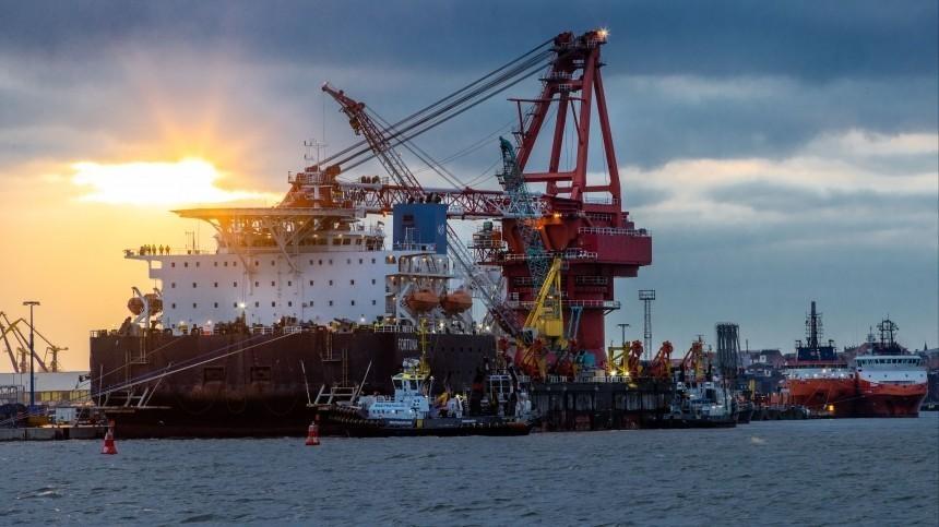 Российское судно возобновило работы по«Северному потоку— 2» вводах Германии
