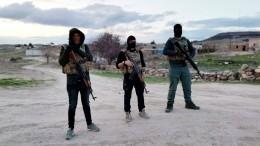 «Охотники заИГ*» провели вСирии учения поликвидации базы условных террористов