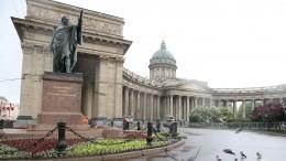 Видео: Петербургским памятникам провели комплекс «водных процедур» впреддверии Дня города