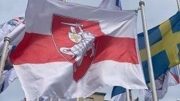 ВРиге вывесили оппозиционный флаг Белоруссии вместо государственного