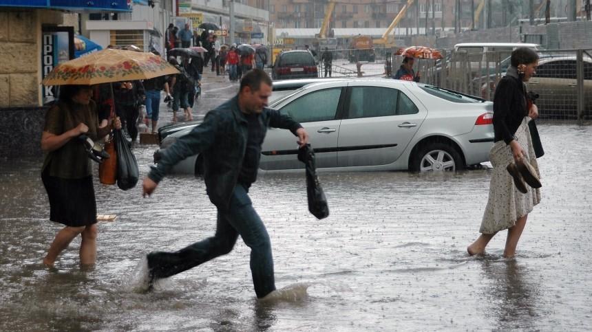 Удар стихии: сильнейший ливень обрушился наХанты-Мансийск