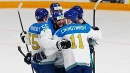 Казахстан разгромил Италию сосчетом 11:3 вматче ЧМпохоккею
