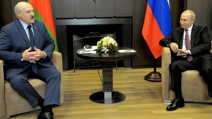 Путин иЛукашенко продолжили общение вСочи